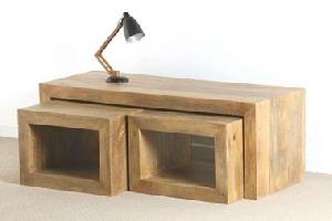 mango wood nest table manufacturer exporter wholesaler india
