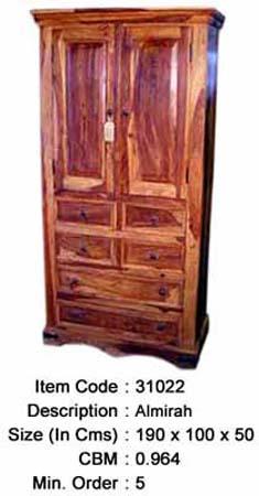 sheesham wood almirah manufacturer exporter wholesaler india