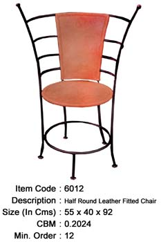 wrought iron chair leather manufacturer exporter wholesaler india