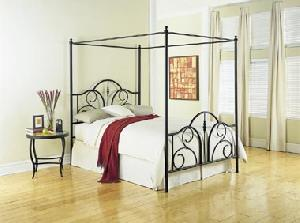wrought iron king bed manufacturer exporter wholesaler india