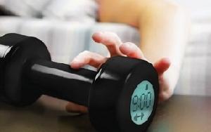 shape up alarm clock dumbbell won t shut til 30 reps
