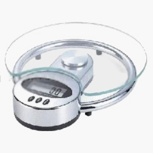 Digital Weighing Pans Kitchen Scale Capacity 3kg / 1g 5kg / 2g Electronic Count Down Timer With Bell