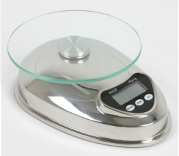 glass platform food scales stainless body buttons lcd display 5kg