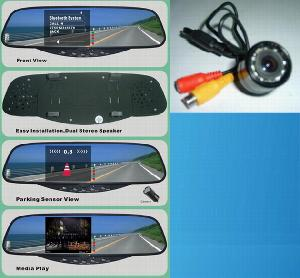 car bluetooth handsfree mirror reversing camera system bt 728s
