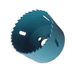 bi metal hole wood plastic cutting