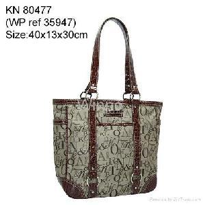 jacquard weave tote bag