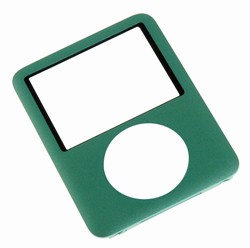 ipod nano 3rd gen front cover panel silver green blue
