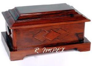 mahogni handmade wooden urn