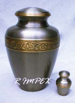 solid brass urn puter finish engraved bronze band