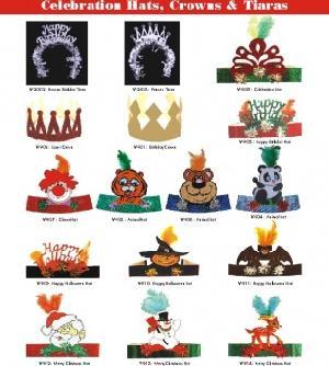 celebration paper hats crowns tiaras