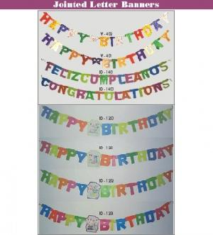 jointed letter banners occasions