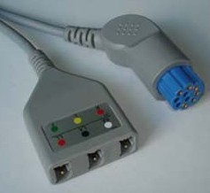 datex ecg cable 3 leads trunk ronseda