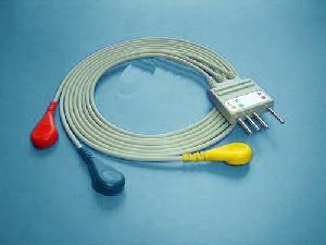 nihon kohden 3 leadwire ecg cable br002p