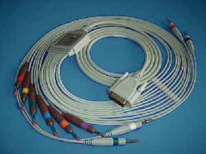 nihon kohden 12ld ecg cable leadwiers