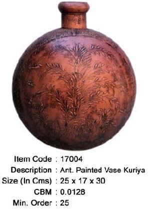 antique painted vase pot manufacturer exporter wholesaler india