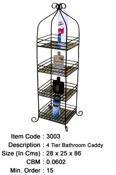 wrought iron bathroom caddy manufacturer exporter wholesaler india