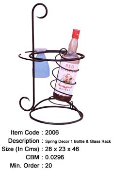 wrought iron bottle holder manufacturer exporter wholesaler india