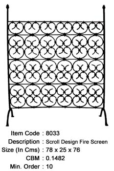 wrought iron fire screen manufacturer exporter wholesaler india