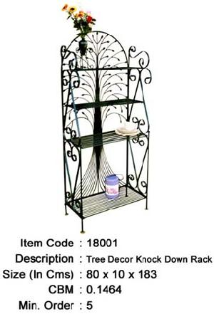 wrought iron folding rack knock manufacturer exporter wholesaler india