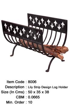 wrought iron log holder manufacturer exporter wholesaler india
