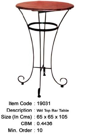 wrought iron round bar table manufacturer exporter wholesaler india