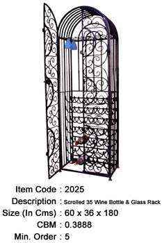 wrought iron wine cabinet manufacturer exporter wholesaler india