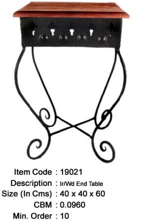 wrought iron wooden side table manufacturer exporter wholesaler india