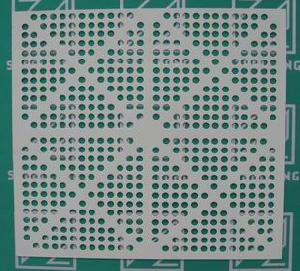 round hole colored perforated metal