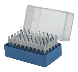 50 micro twist drills plastic box
