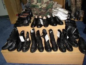 military boot police shoes patent pu boots