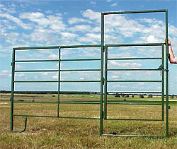 panel fence cattles