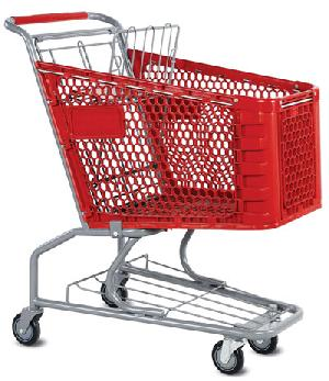 plastic shopping trolleys wheels uk