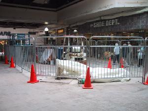 steel pedestrian fencing portable barrier
