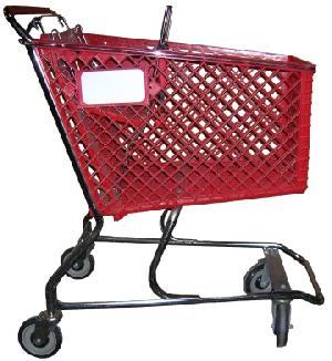 supermarket trolleys plastic basket