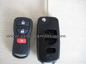 nissan flip key shell 3 4 button