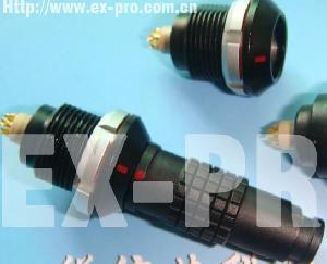 chrome plated waterproof ip68 connector lemo metal push pull circualr mini