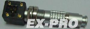 interchangeable lemo elbow connector ex pro elctronical metal push pull miniature