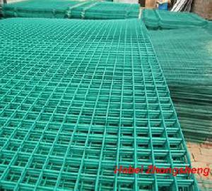 green powder coated weld mesh panels garden fence