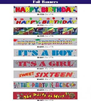 celebration foil banenrs 5 x11 ft themes