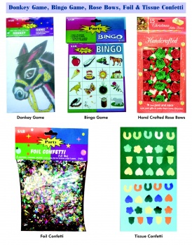 paper games rose bows foil tissue confetti