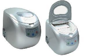 ice maker mini cooler cream comressor freezer