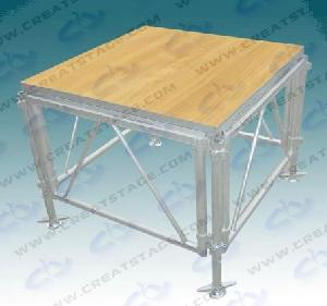 aluminum folding plywood stage