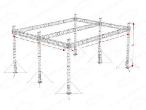 aluminum lighting stage truss