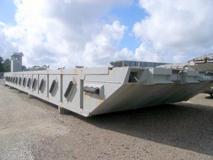 90ft naval powered causeway barge 2 detroit diesel engines stock 4699 6500