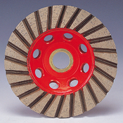 straight turbo cup wheels concrete granite marble