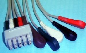 ge marquette e9008kb 5 snap leadwires