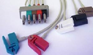 hp m1623a 5 clip leadwires aa plug grabber