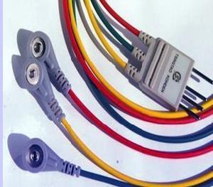 nihon kohden br 002p ronseda 3 leads ecg cable