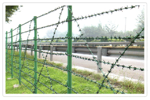welded fence wire mesh barbed razor concertina coil