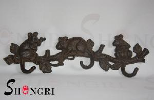 cast iron hook populer rust colour